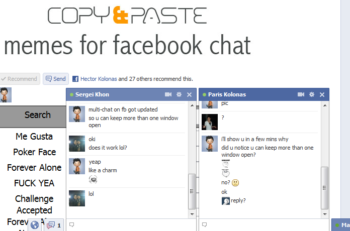 Multiple open chat windows on Facebook, bug or feature